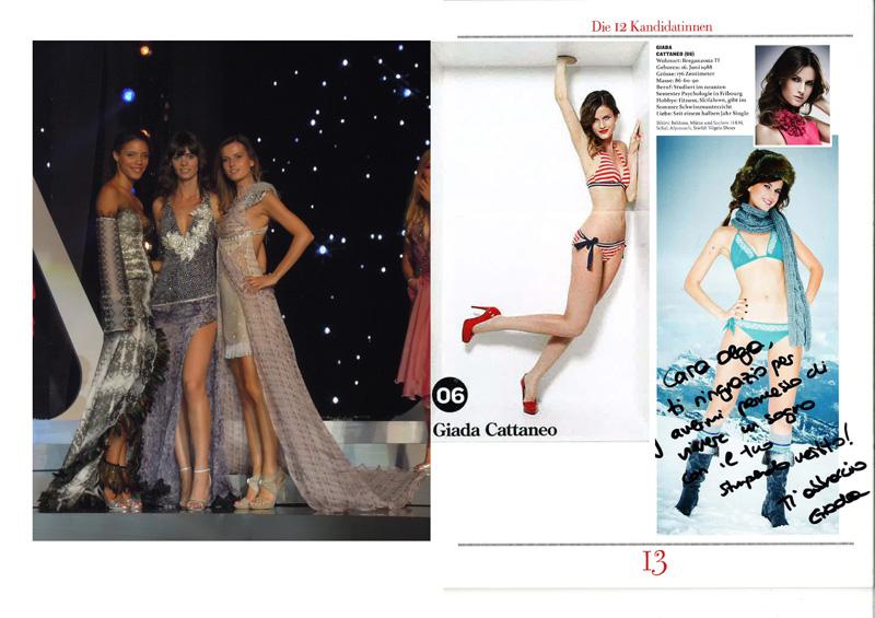 2011 Miss Switzerland  Giada Cattaneo in ROHMIR evening dress