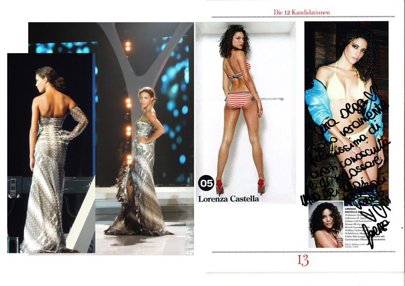 2011 Miss Switzerland Lorenza Cattaneo in ROHMIR evening dress