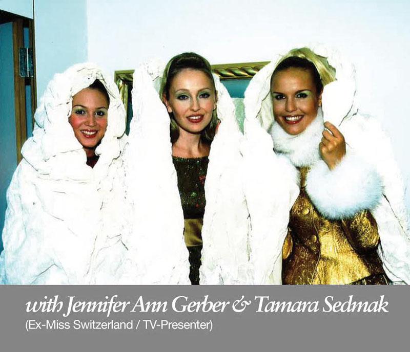 44.Olga Roh with Jennifer Ann Gerber, former miss switzerland and Tamara Sedmak