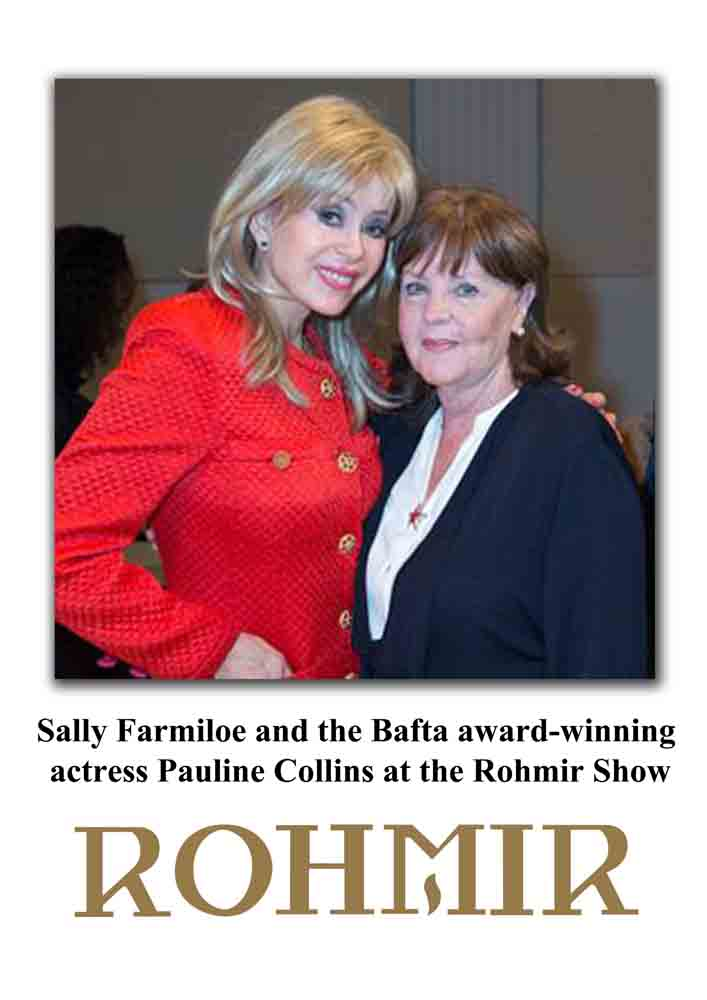 Actress, the bafta award-winning Pauline Collins and OLGA ROH's friend Sally Farmiloe (in red) are attends Rohmir AW13-14 Fashion Show