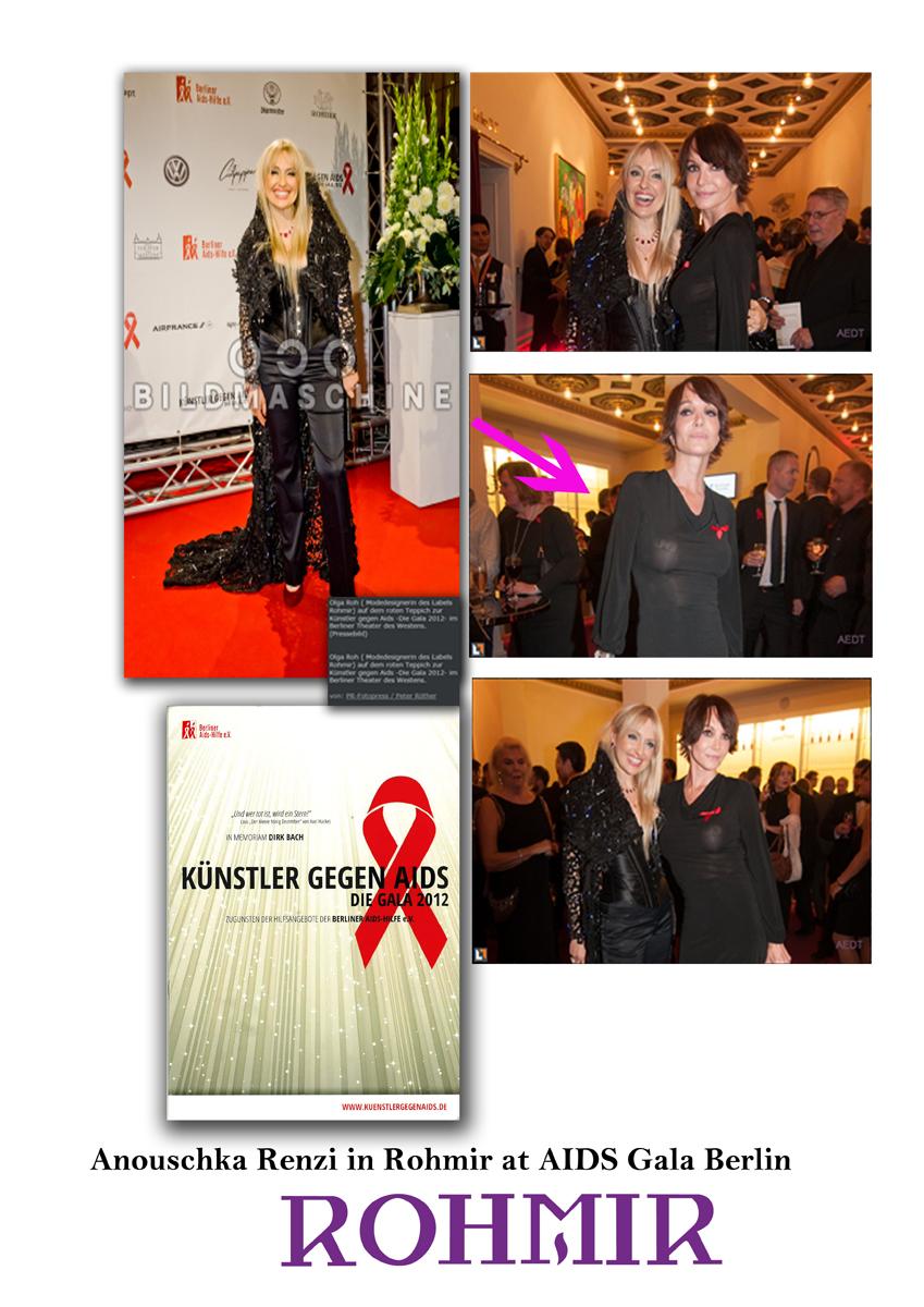 Anouschka Renzi in Rohmir at AIDS Gala Berlin