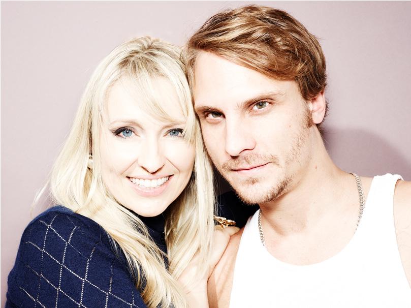 Designer Olga Roh with Neil Dawson (Photographer)