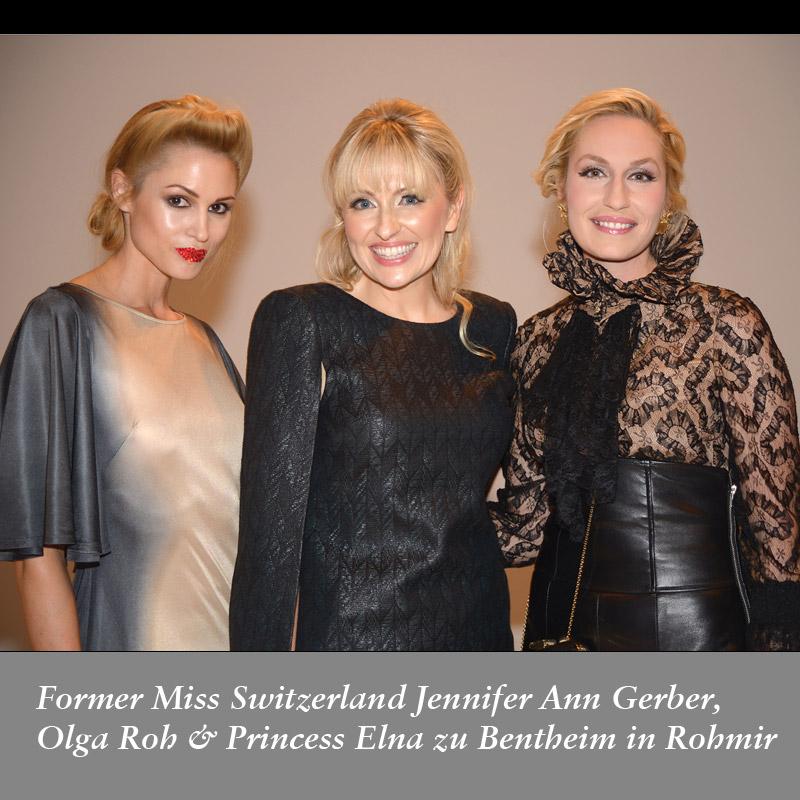 Former-Miss-Switzerland-Jennifer-Ann-Gerber,-Olga-Roh-&-Princess-Elna-zu-Bentheim-in-Rohmir-SS14Fashion-Show,-sept2013