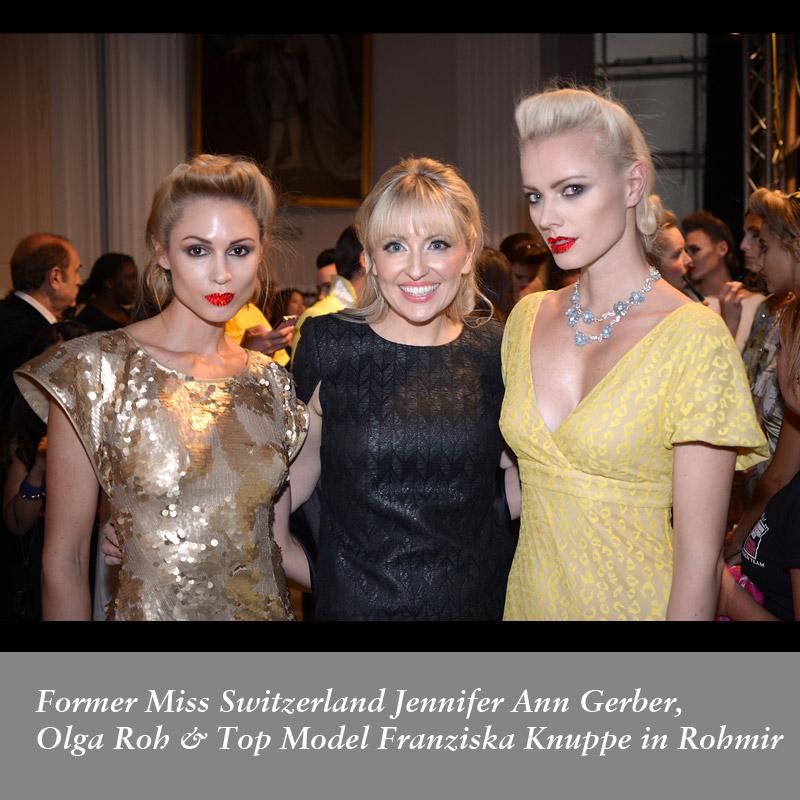 Former-Miss-Switzerland-Jennifer-Ann-Gerber,-Olga-Roh-&-Top-Model-Franziska-Knuppe-in-Rohmir-SS14Fashion-Show,-sept-2013