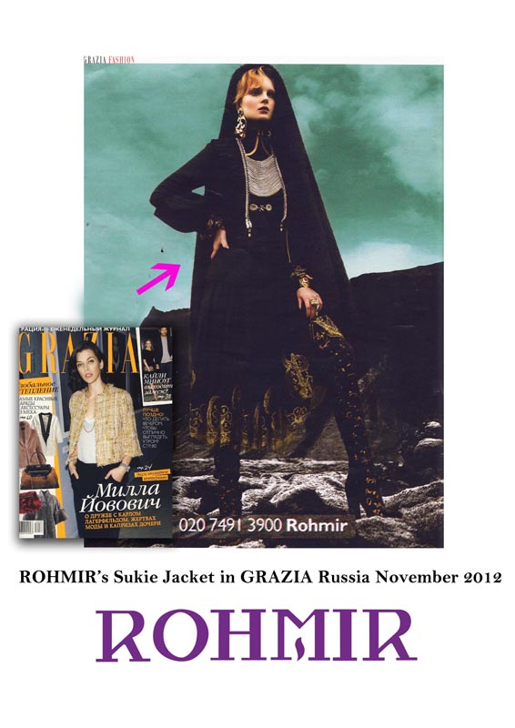 GRAZIA RUSSIA Sukie Jacket  November 2012