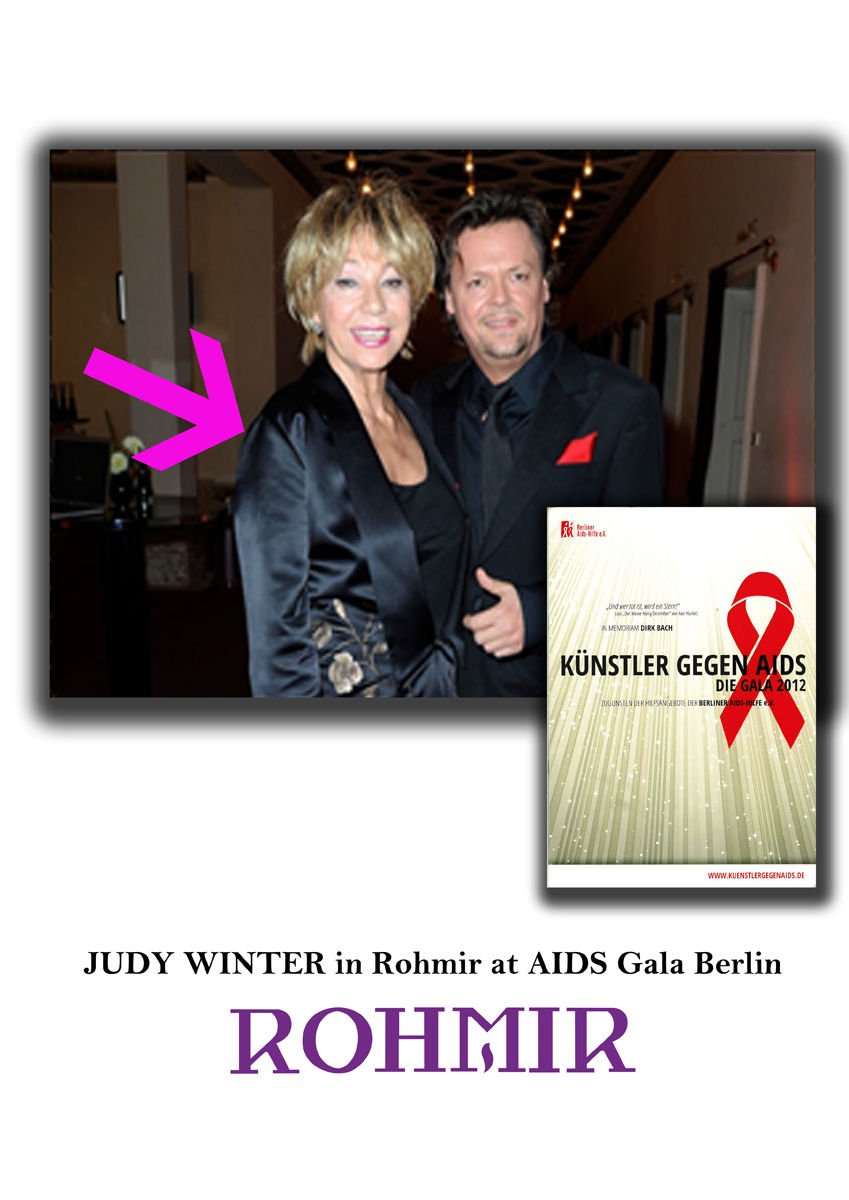 JUDY WINTER in Rohmir at AIDS Gala Berlin