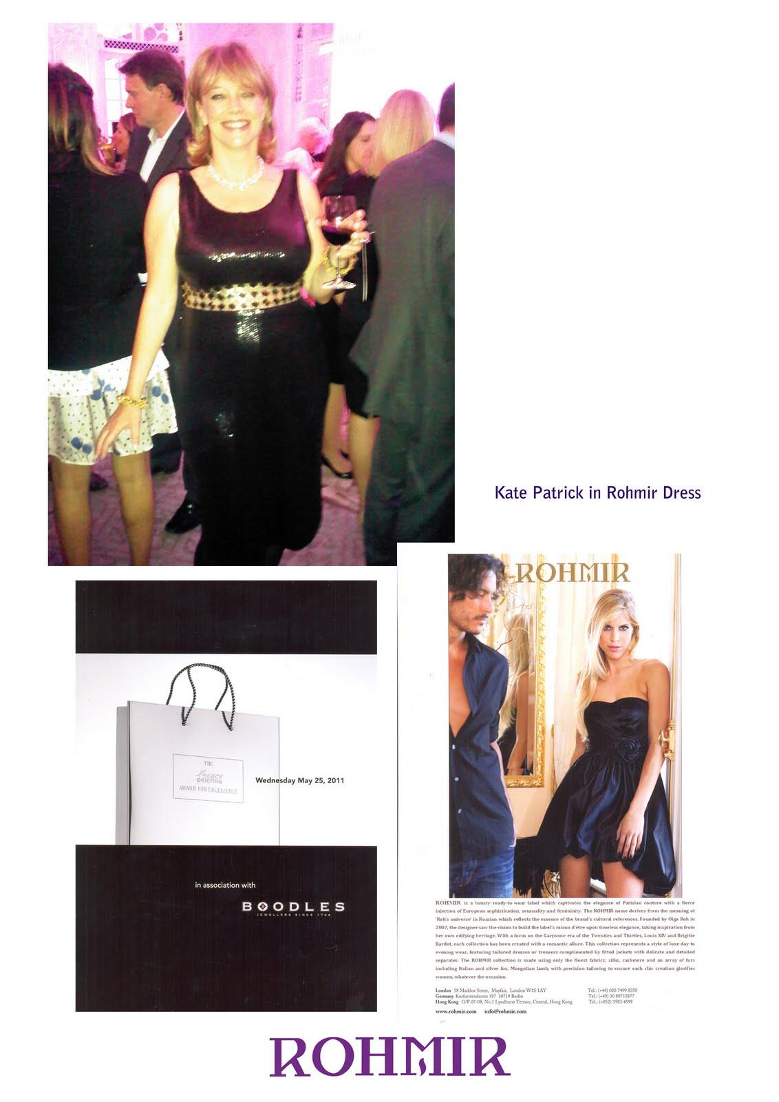 Kate Patrick in Rohmir Dress
