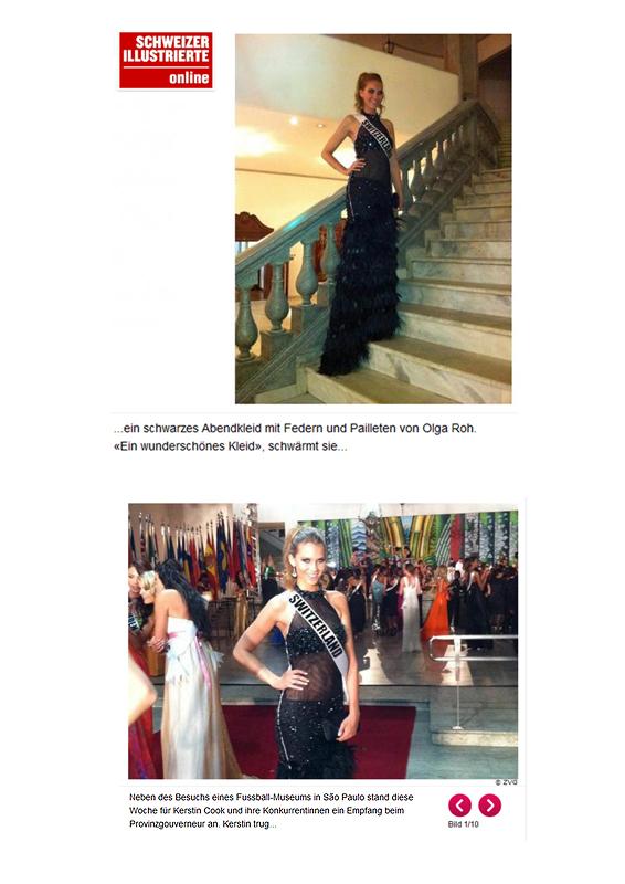 Kerstin Cook in ROHMIR at Miss Universe in Brazil (Sao Paulo)