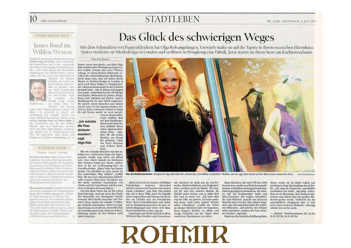 Madam Olga Roh in Berliner Zeitung july 2011