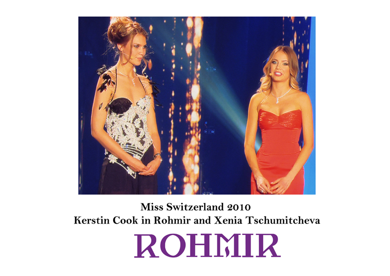 Miss Switzerland 2010 Kerstin Cook in Rohmir and Xenia Tschumitcheva