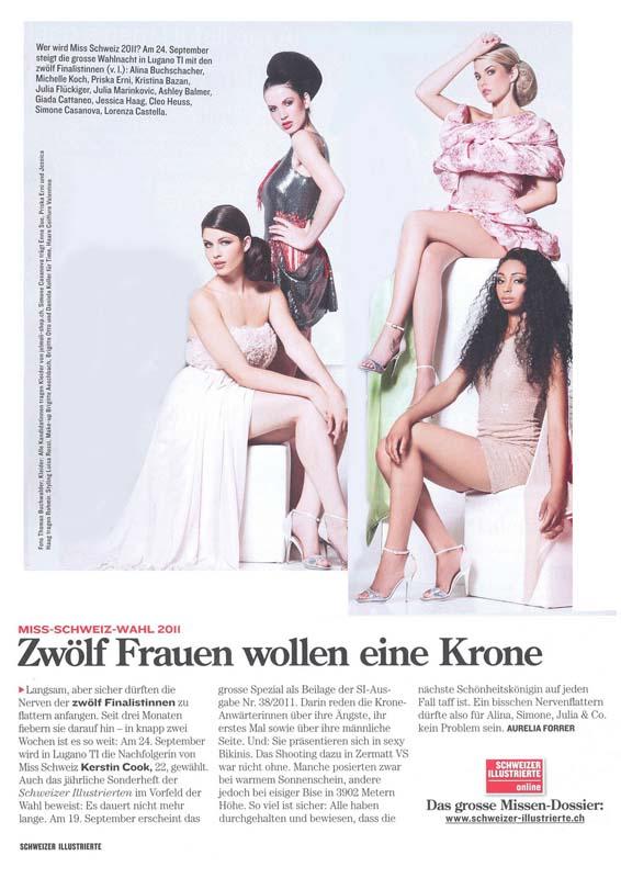 Miss Switzerland 2011 in Rohmir