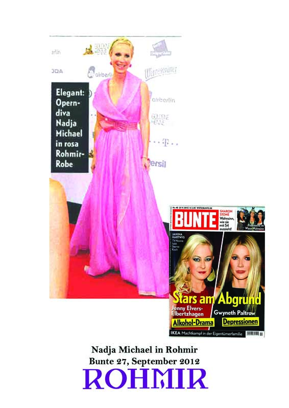Nadja Michael in Rohmir Bunte 27, September 2012