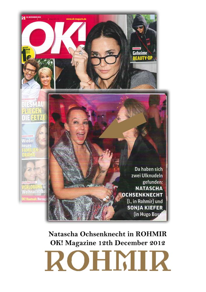 Natascha Ochsenknecht in ROHMIR _OK! Magazine 12th December 2012