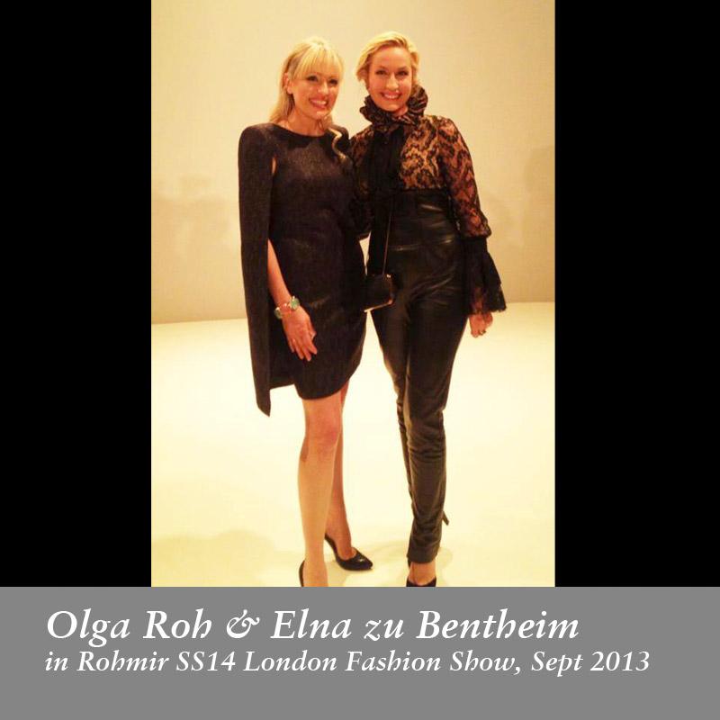 Olga-Roh-&-Elna-zu-Bentheim-in-Rohmir-SS14-London-Fashion-Show,-Sept-2013