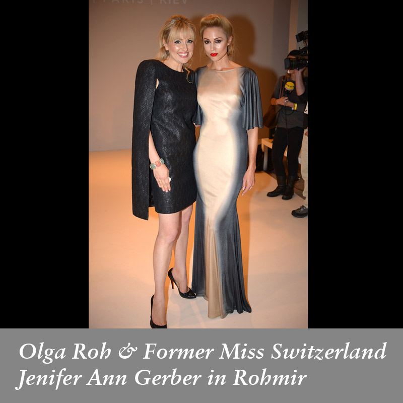 Olga-Roh-&-Former-Miss-Switzerland-Jenifer-Ann-Gerber-in-Rohmir-SS14-London-Fashion-Show,-sept-2013
