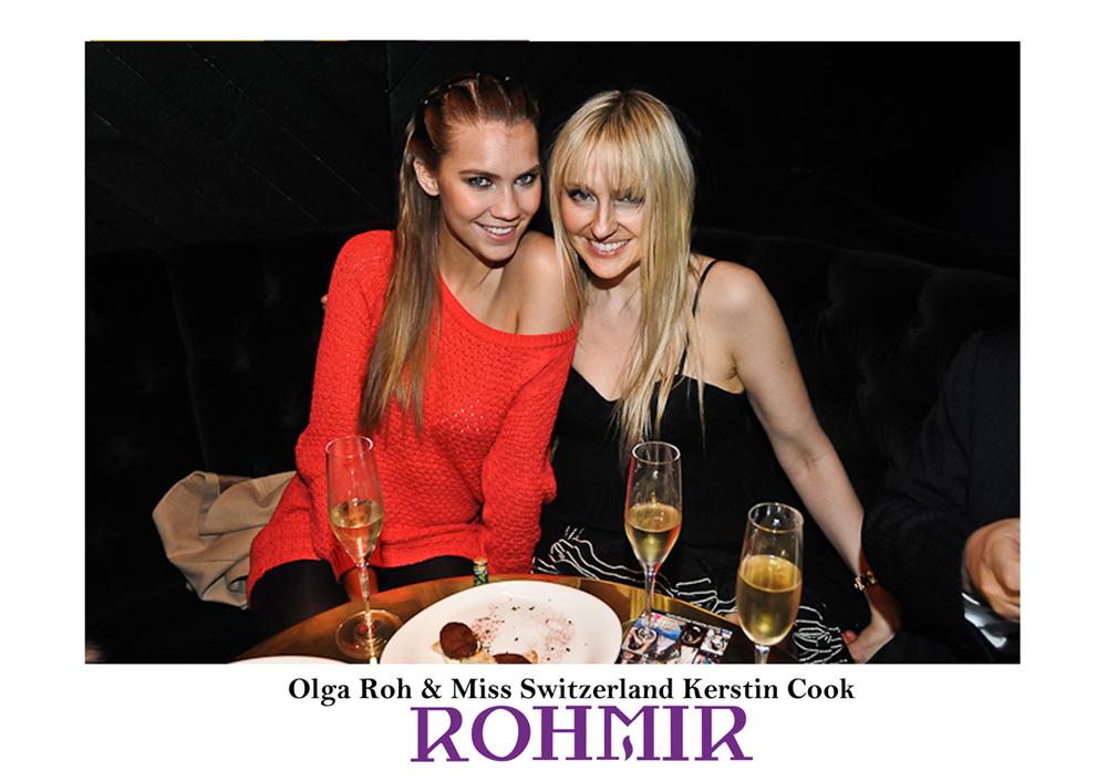 Olga Roh & Miss Switzerland Kerstin Cook