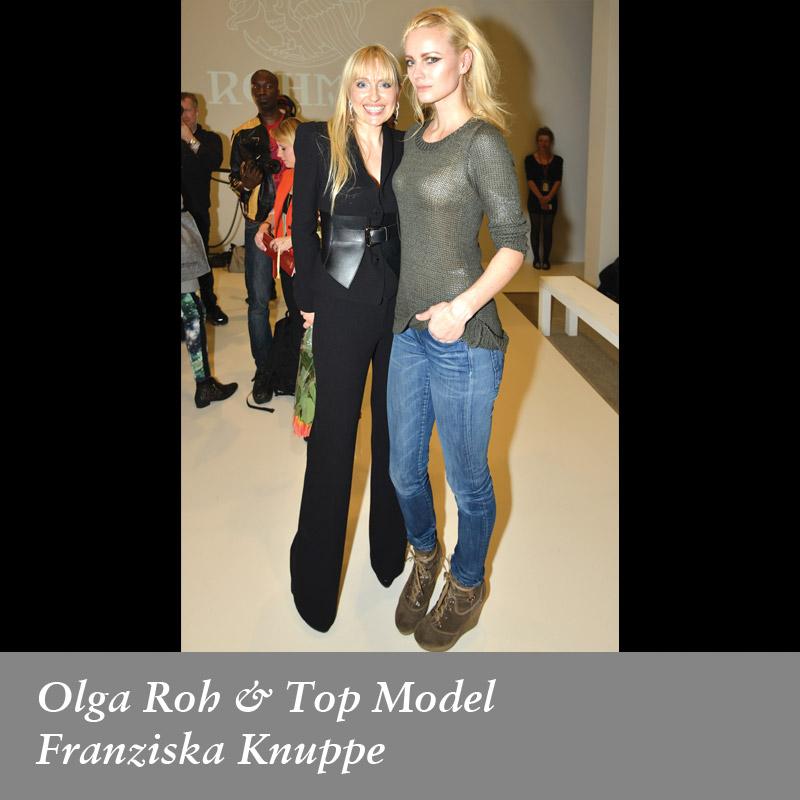 Olga-Roh-&-Top-Model-Franziska-Knuppe-in-Rohmir-AW1314-Fashion-Show,-feb-2013