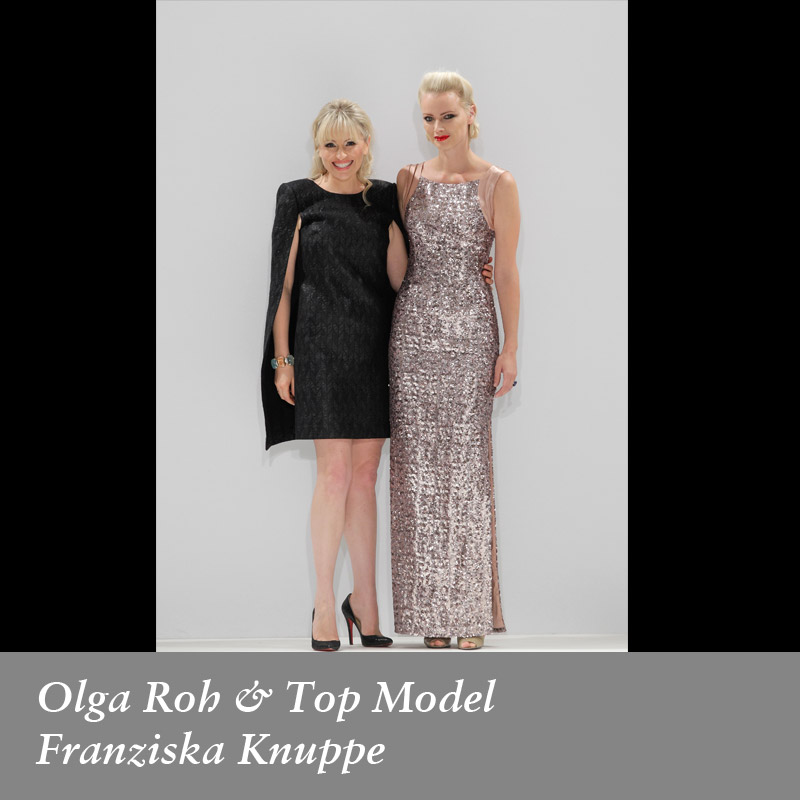 Olga-Roh-&-Top-Model-Franziska-Knuppe-in-Rohmir-SS14Fashion-Show,-September-2013