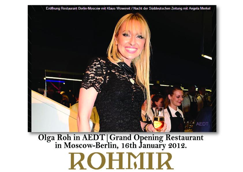 Olga Roh in AEDT-Grand Opening Restaurant