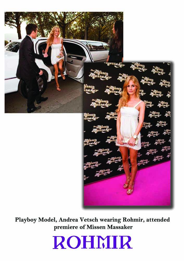 Playboy Model, Andrea Vetsch, attended premiere of Missen Massaker