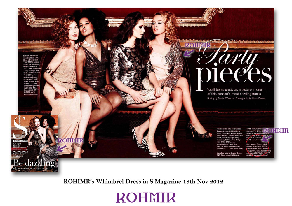 ROHIMR's Whimbrel Dress in S Magazine 18th Nov 2012
