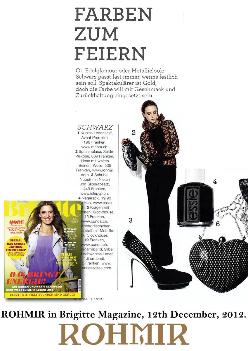 ROHMIR in Brigitte Magazine