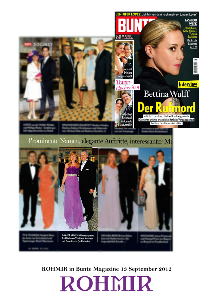 ROHMIR in Bunte Magazine 13 September 2012