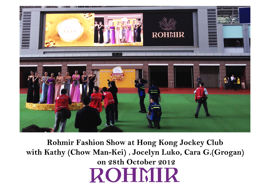 Rohmir Fashion Show at HKJC on 28th Oct 12