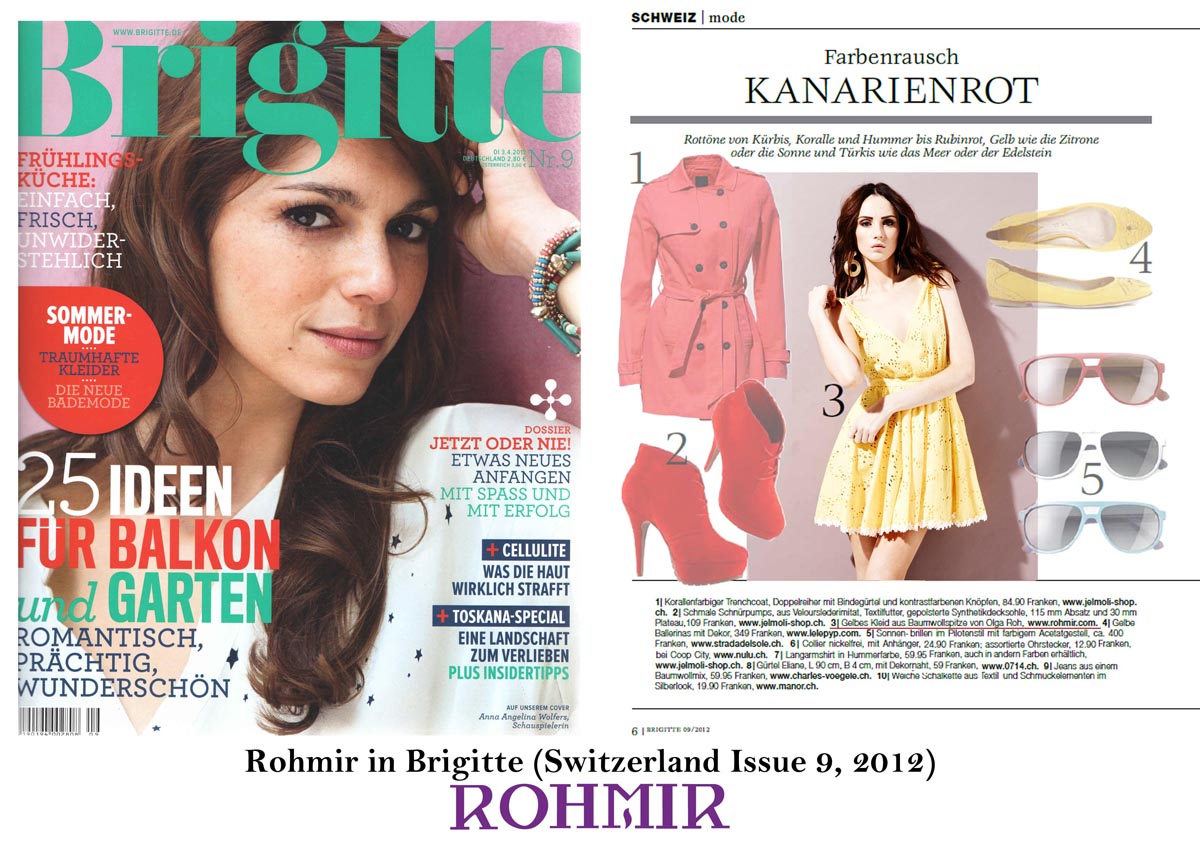Rohmir in Brigitte Switzerland Issue 9