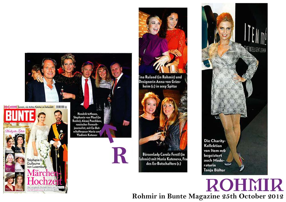 Rohmir in Bunte Magazine 25th October 2012 (3)