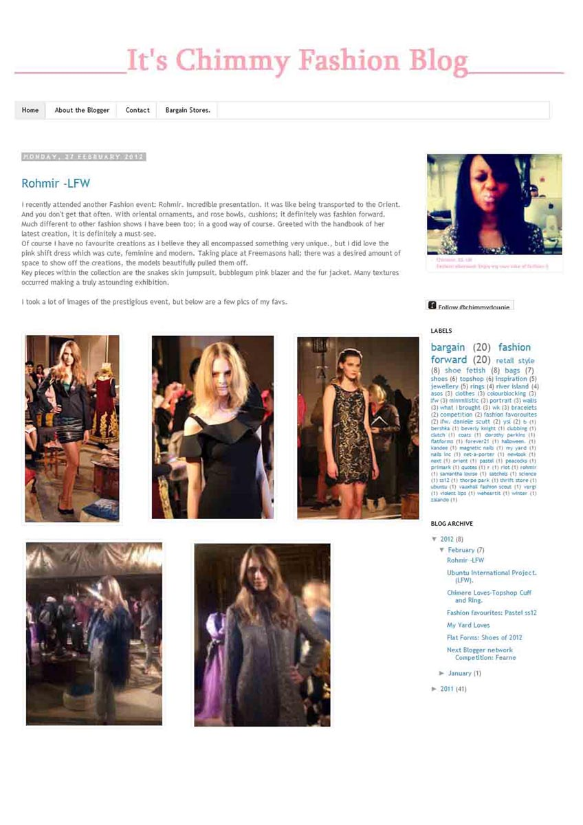 Rohmir in Its Chimmy Fashion Blog Feb12