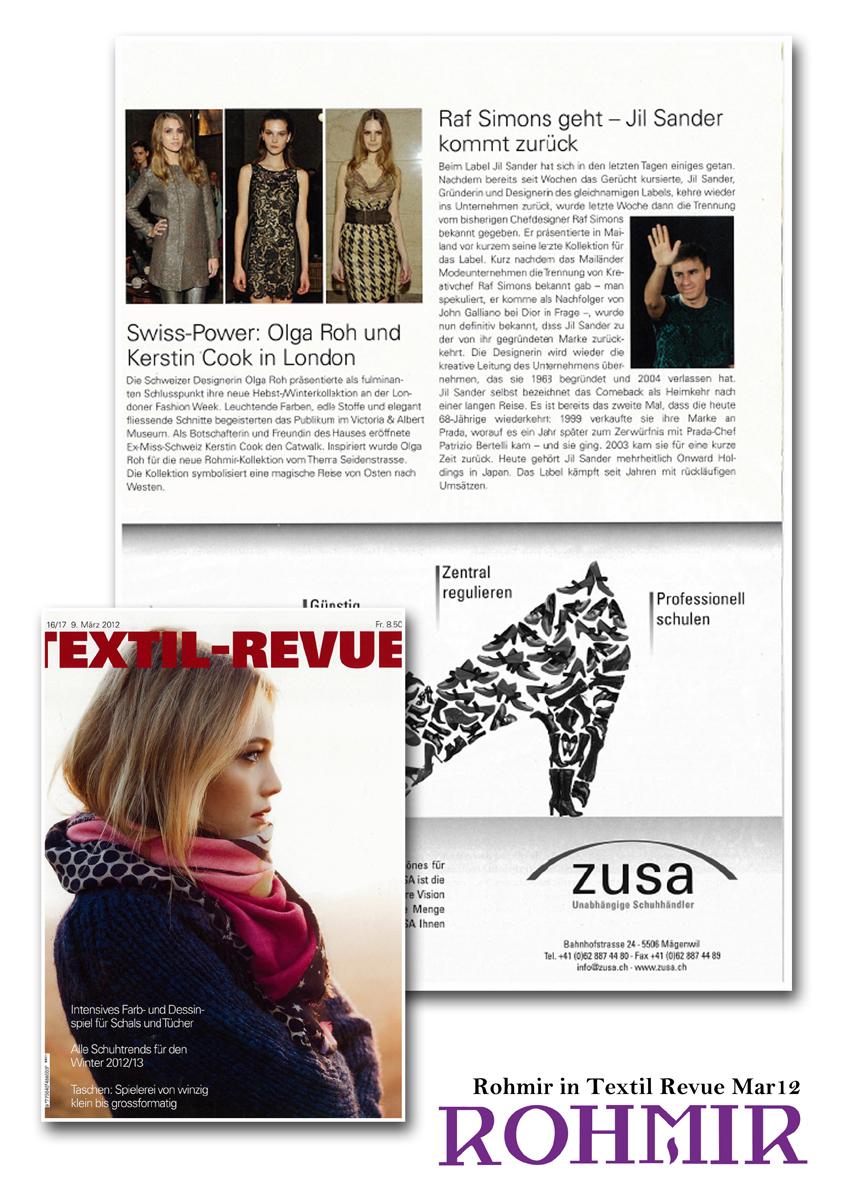 Rohmir in Textil Revue Mar12