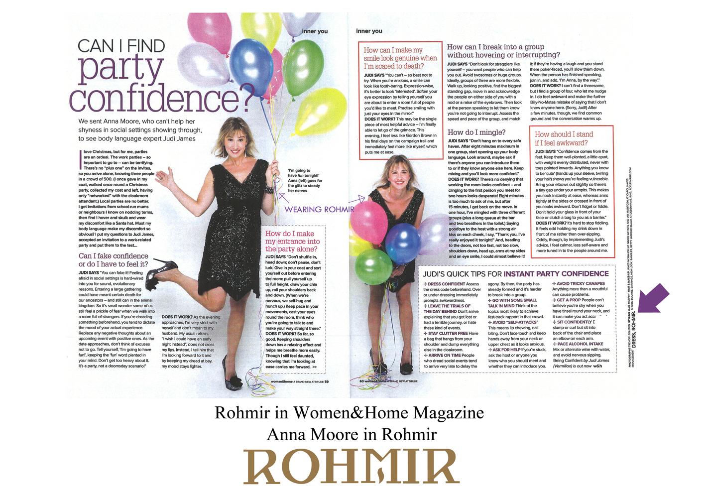 Rohmir in Women&Home Magazine Anna moore in Rohmir Dec 11