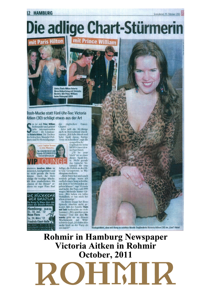 Rohmir on Hamburg Newspaper Victoria Aitken in Rohmir OCT2011