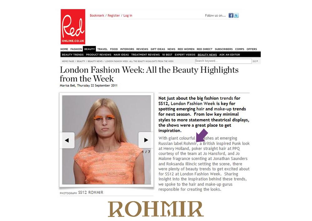 Rohmir on Red Online Sept 2011