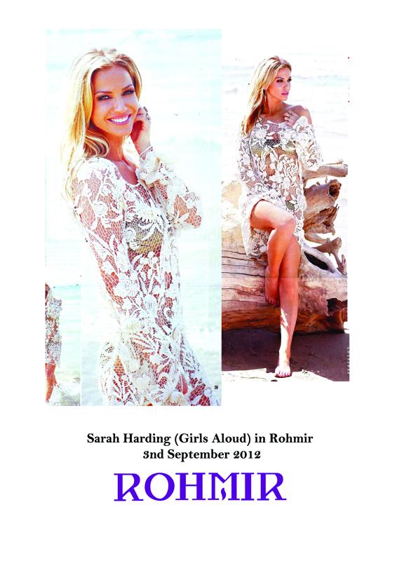 Sarah Harding (Girls Aloud),  wearing Rohmir in Hello! Magazine_