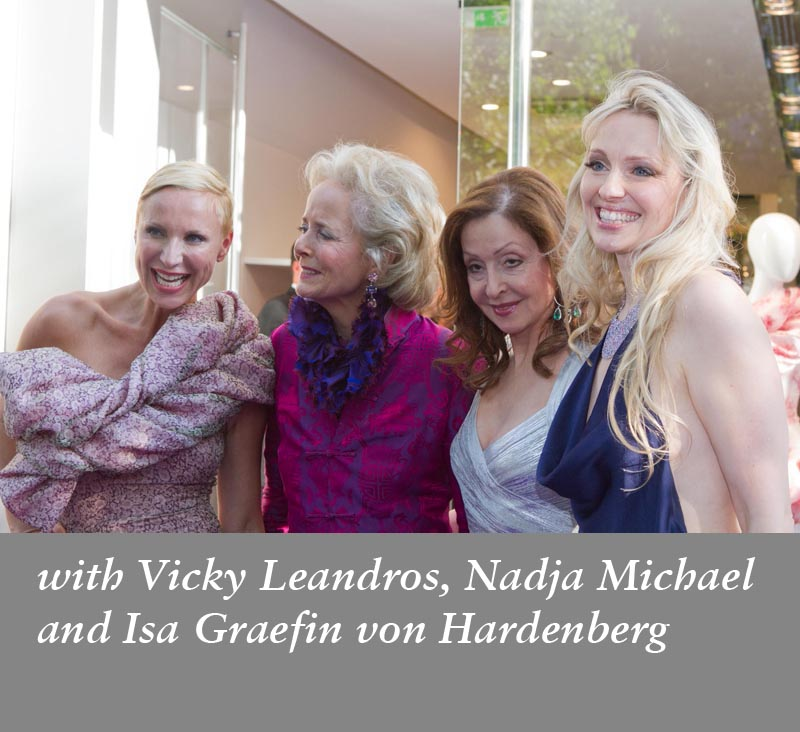 With Nadja Michael, Isa Graefin von Hardenberg,Vicky Leandros