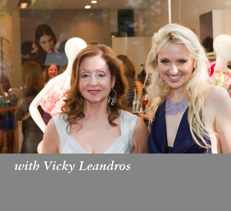 With Vicky Leandros
