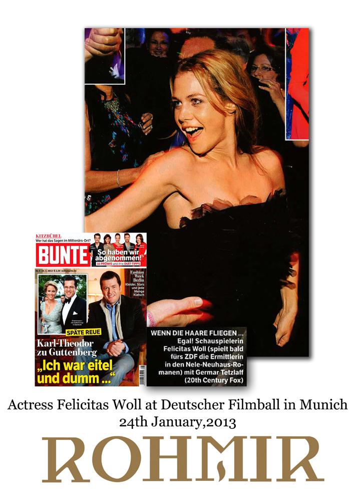 Actress Felicitas Woll at Deutscher Filmball in Munich 24th January,2013
