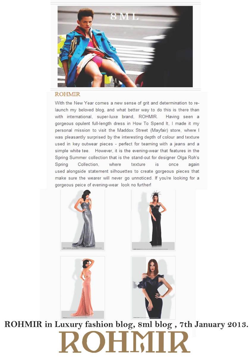 ROHMIR in fashion blog 8ml