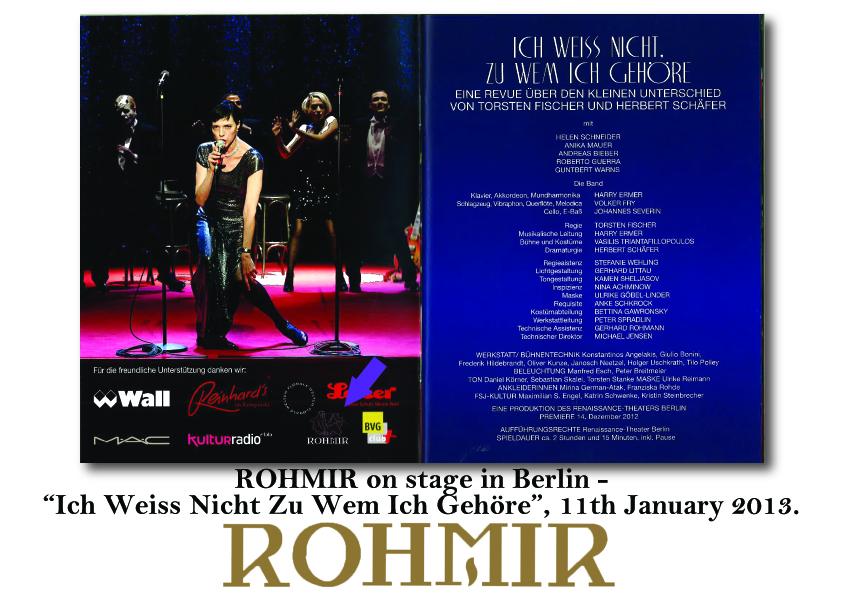 ROHMIR on Stage in Berlin
