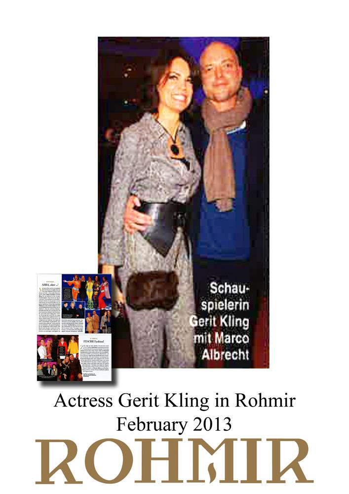 Actress Gerit Kling in Rohmir 1