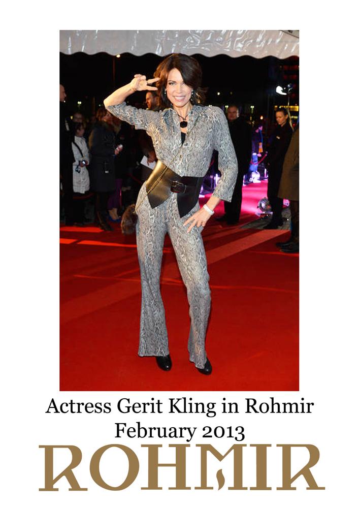 Actress Gerit Kling in Rohmir