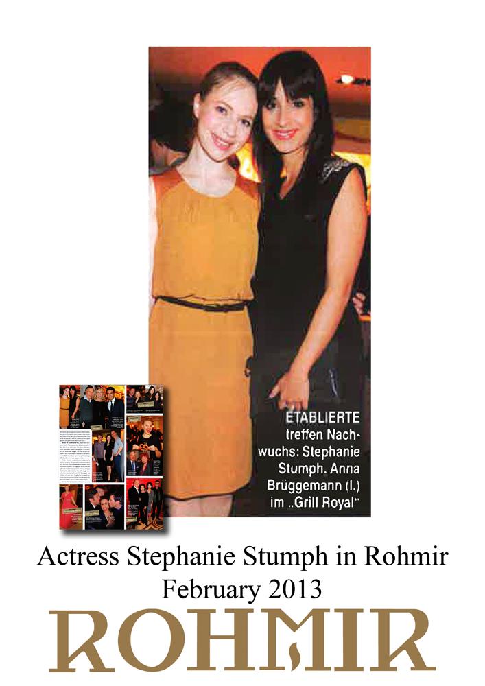 Actress Stephanie Stumph in Rohmir