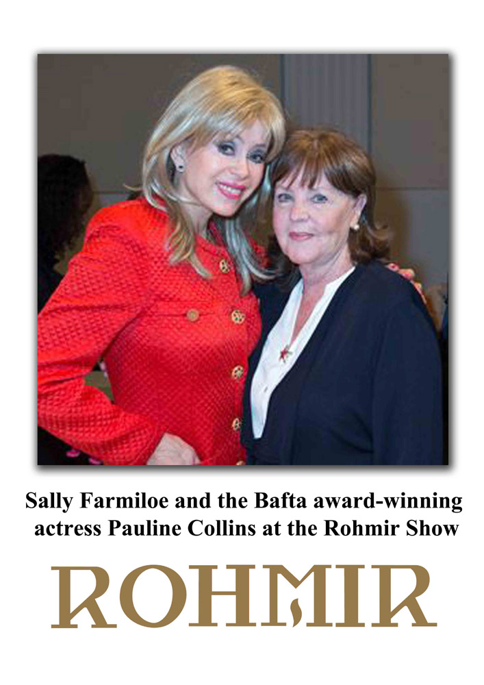 Actress,-the-bafta-award-winning-Pauline-Collins-and-OLGA-ROH's-friend-Sally-Farmiloe-(in-red)-are-attends-Rohmir-AW13-14-Fashion-Show