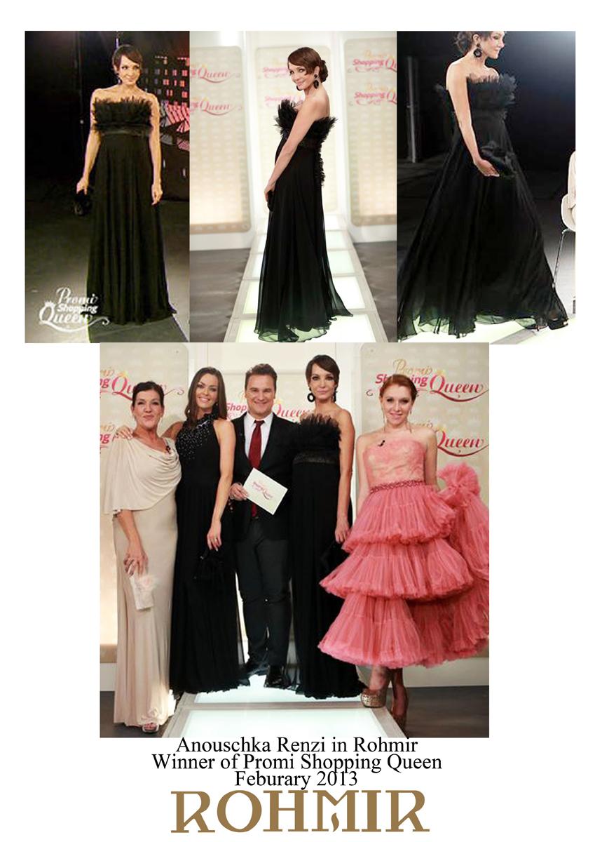 Anouschka Renzi in Rohmir winner of Promi shopping queen feb 2013