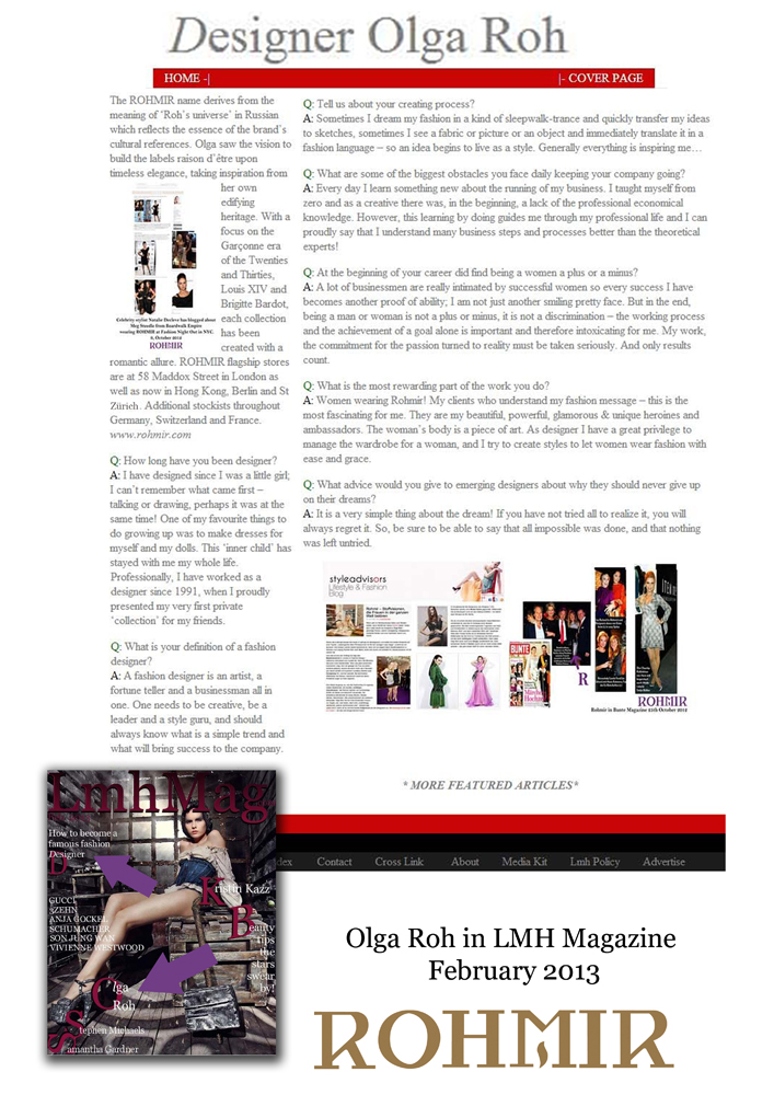 Olga Roh in LMH Magazine Feb 2013_Page01