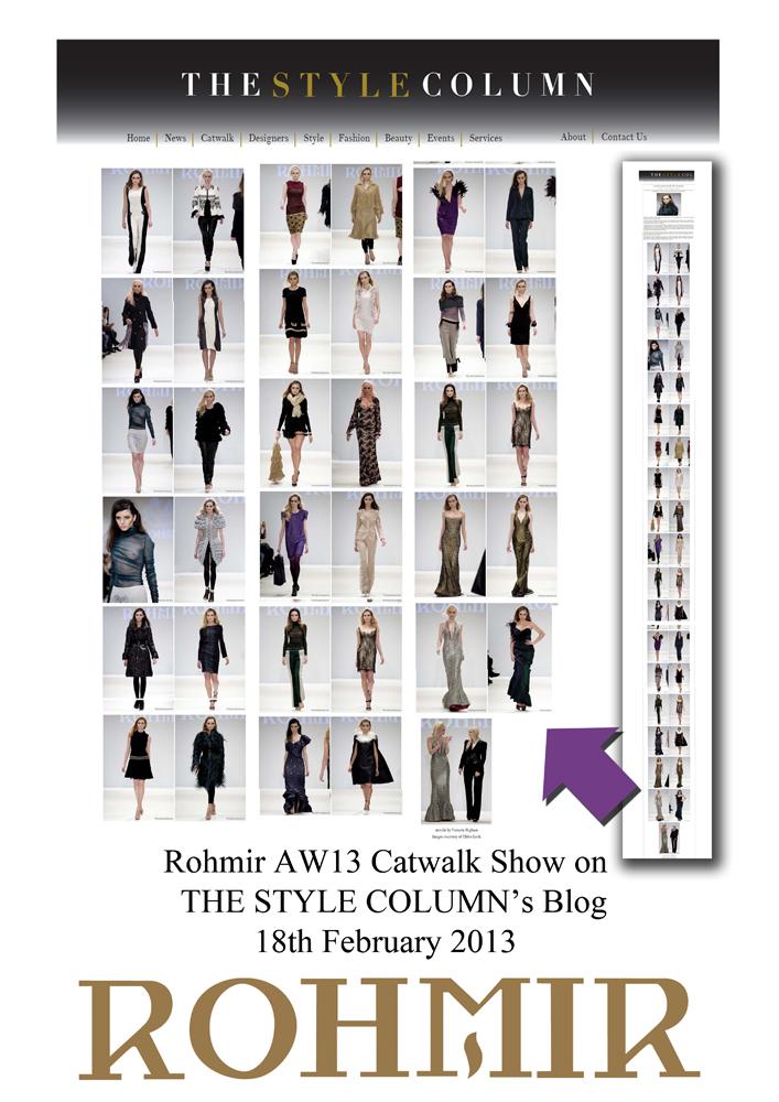 Rohmir AW13 Catwalk Show on THE STYLE COLUMN's Blog18th February 2013