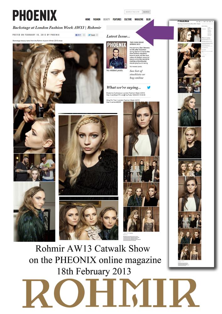 Rohmir AW13 Catwalk Show on the PHEONIX online magazine18th February 2013