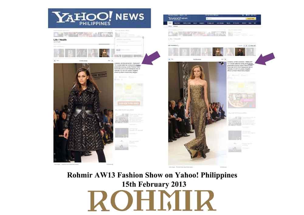 Rohmir AW13 Fashion Show on Yahoo! Philippines_15th February 2013